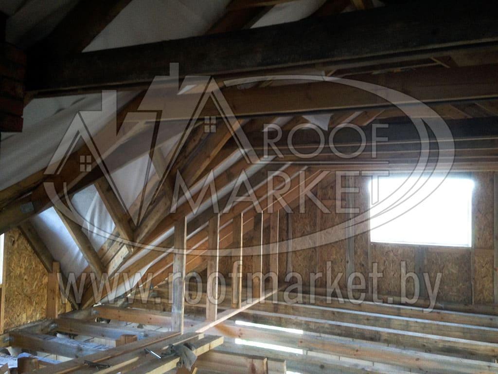 Реконструкция кровли с покрытием из металлочерепицы Монтеррей от Скайпрофиль