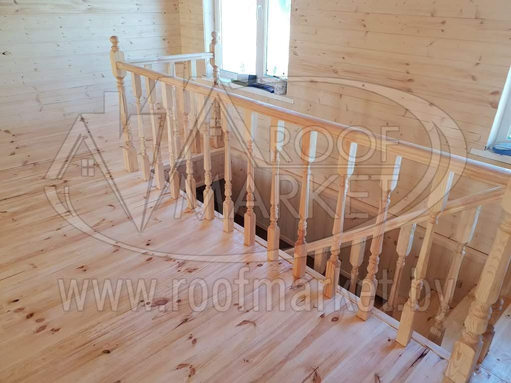 монтаж лестницы с поворотной площадкой