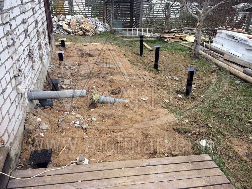 Строительство каркасной пристройки к дому с покрытием из Ондулина