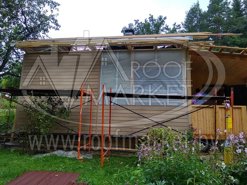 """Реконструкция дома с использованием металлочерепицы МеталлПрофиль """"Norman"""" Монтеррей"""