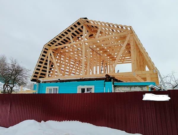реконструкция крыши в мансардную