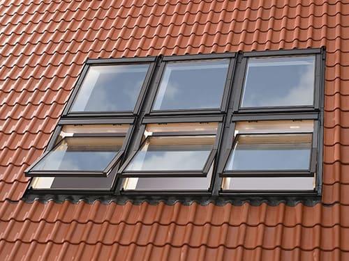 мансардные окна velux стандарт комбинации