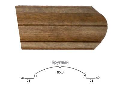 Технические характеристики Круглый фигурный штакетник Grand Line