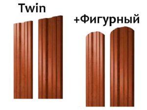 металлический штакетник twin гранд лайн