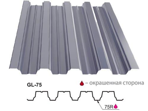 металлопрофиль (профнастил) gl-н 75 от grand line