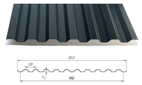 Технические характеристики Металлопрофиль GL - C21