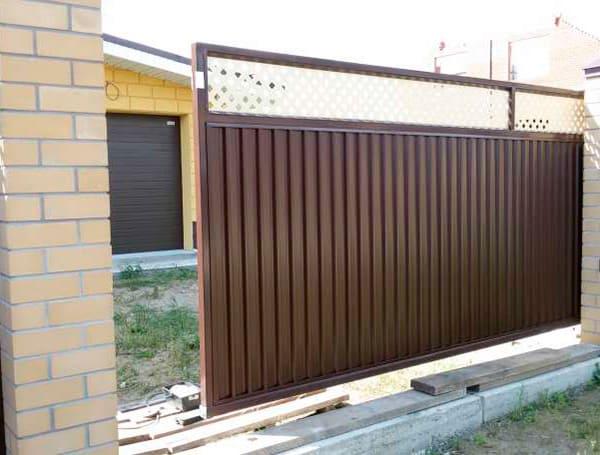 Откатные ворота Эстет Плюс Grand Line производства Grand Line