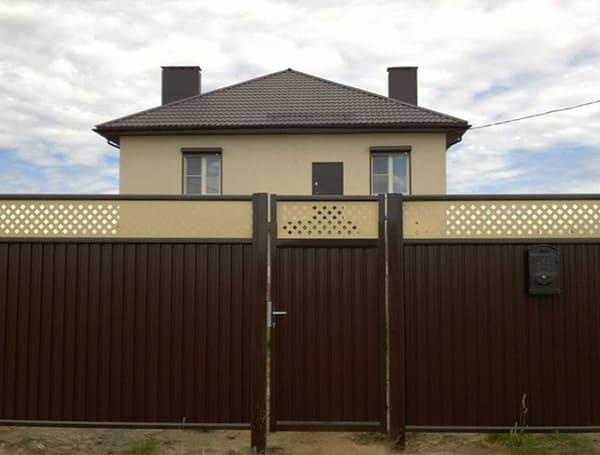 Распашные ворота и калитки Эстет Плюс Grand Line производства Grand Line